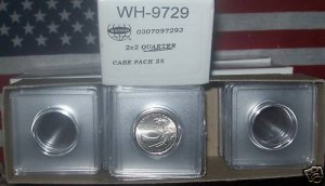 1-BOX 25ct 2X2 QUARTER SNAP Tites~COIN HOLDERS~FREE S&H