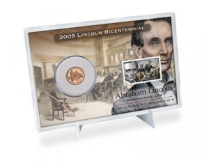 09 RARE LINCOLN PROFESSIONAL LIFE COIN & STAMP SET LP3