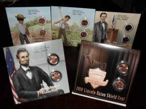 LINCOLN PENNY CENT BOOKLETS All 5 LP1-LP5 Cabin-Shield