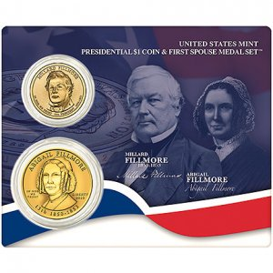 2010 Fillmore One Dollar Coin & First Spouse Medal Set