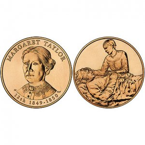 09 FIRST SPOUSE-MARGARET TAYLOR 1 5/16 BRONZE MEDAL~X56