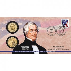 2010 Millard Fillmore $1 Presidential Coin Cover  (P33)