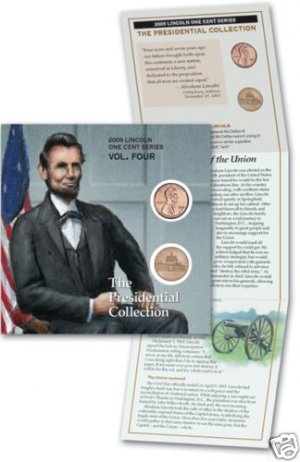09 LINCOLN PENNY UNC P/D MINT PRESIDENT LP4 BOOKLET
