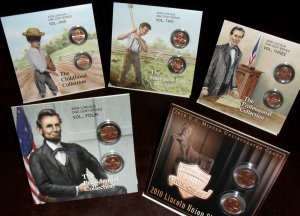 LINCOLN PENNY BOOKLETS ALL 5 LP1 LP2 LP3 LP4 LP5