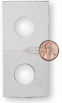 100 Cardboard Paper Mylar Coin Holder Flip (Penny Cent)
