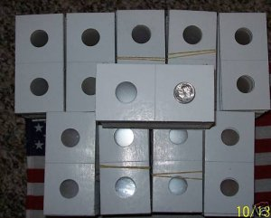 MYLAR COIN HOLDER 2000 2x2 FLIPS (PENNY CENT LP)