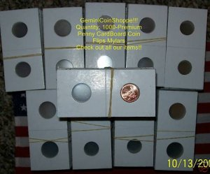 New Coin Holder 1000 2x2 MYLAR FLIPS (Nickel Nickles)