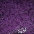 Scarf ~Gorgeous Purple Double Textured Scarf