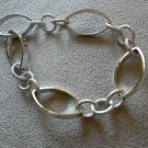 Bracelet Thin Silver Chain Link - textured & smooth