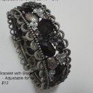 Smoky Silver Setting Bracelet with