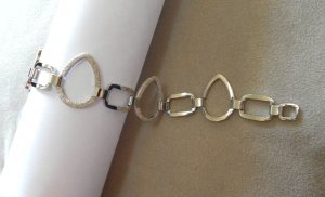 Bracelet ~ Thin Silver Shade - Chain Link - Textured &amp; Smooth