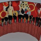 Makeup Brush Roll Unique Chic Design Large Size Red Fun