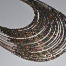 Necklace - Bronze Beaded Multi-Strand Necklace