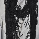 Scarf ~ Strong Lace Scarf in Black - Stylish Beautiful