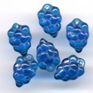 Blue GRAPES GLASS FRUIT BEADS CHARMS Grape Clusters