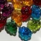 Autumn Harvest Green Purple Red Gold Blue Grape Glass Goblet Bead Charms MIX