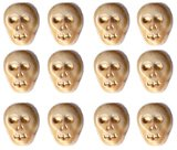 Bone Ivory Color Skull Skeleton Beads Czech Glass Fun 25 Pcs