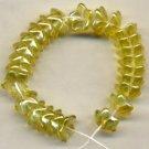 Pretty Yellow 5 petal Star Cup Flower Beads Czech Glass