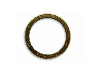 Vintaj Brass Garden Eternity Ring Connector 25mm For Charms