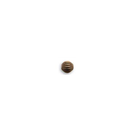 4mm Natural Brass 4mm Fluted Melon Beads Vintaj 12 pcs
