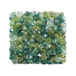 4mm Green Swarovski Crystal Mix  $1.50 postage