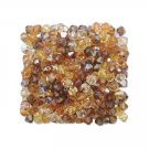 4mm Wheatberry Gold Swarovski 5301 Bicone Topaz Autumn Harvest