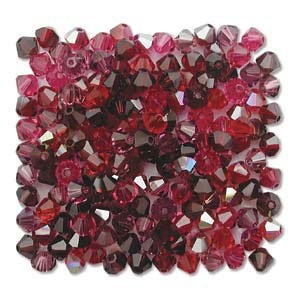 4mm 5301 Bicone Swarovski Crystal Red Wine Mix