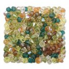 4mm Earth Harvest Swarovski 5301 Bicone Green Gold Orange Brown