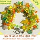 Tropical Garden Fringe Bracelet Bead Kit Orange Yellow Green
