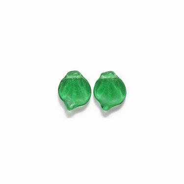 Green Leaf Beads 15mm