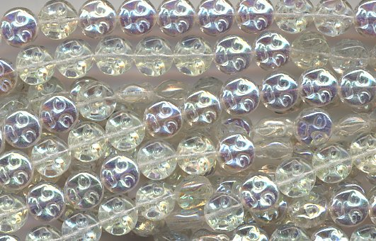 Crystal AB Man On The Full Moon Face Glass Beads