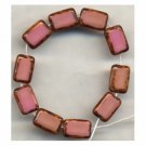 Rose Pink Rectangle Table Window Vintage Style Beads