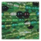 Evergreen Mix Round Green Druk Beads 4mm