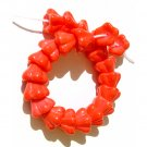 25 Coral Flower Cup Beads Czech Glass 8x6mm