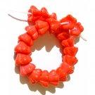 25 Coral Flower Cup Beads Czech Glass 8x6mm