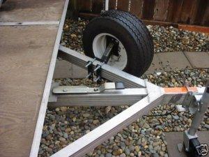 Utility Trailer Spare Tire Mount Holder Carrier Rack