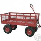 Heavy Duty Nursery Garden Yard Cart Wagon - Steel Mesh