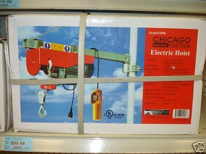 NEW 880 LB ELECTRIC HOIST & REMOTE - UL LISTED WINCH