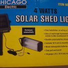 SOLAR POWERED OUTDOOR SHED  BARN GARAGE LIGHT CARPORT