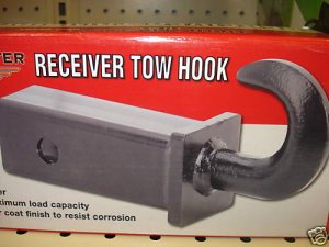 "HITCH TOW HOOK FOR 2"" RECEIVER - 10,000 LB CAPACITY"