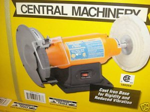 """NEW! 8"""" Wheel Buffing Bench Top Buffer & Grinder 3/4 HP"""
