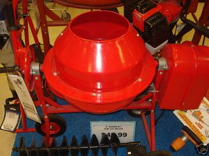 NEW 1 1/4 CU FT CEMENT CONCRETE STUCCO MIXER 1/4 HP WOW