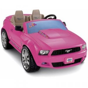 NEW Fisher Price Pink Barbie Ford Mustang Power Wheels