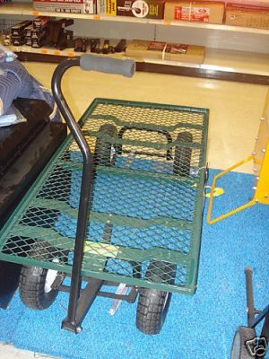 1000LB  Heavy Duty Mesh Nursery Wagon Yard GARDEN CART!