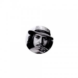 Johnny Depp 1 inch pinback button backpack pin 26994617