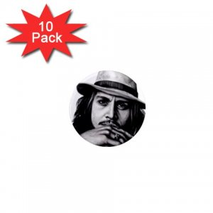 Johnny Depp 10 pack of 1 inch pinback buttons backpack pins26994621