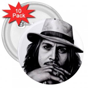 Johnny Depp 10 pack of 3 inch pinback buttons backpack pins 26994624