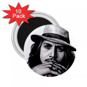 Johnny Depp 10 pack of 2.25 inch Magnets Locker Party favors 26994623