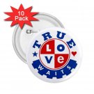 Purity chastity True Love Can Wait 10 pack of 2.25 inch pinback buttons backpack pins 26994651