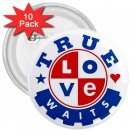 Purity chastity True Love Can Wait 10 pack of 3 inch pinback buttons backpack pins 26994653